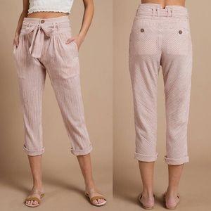 Free People Rumors Yarn Dye Harem Pants